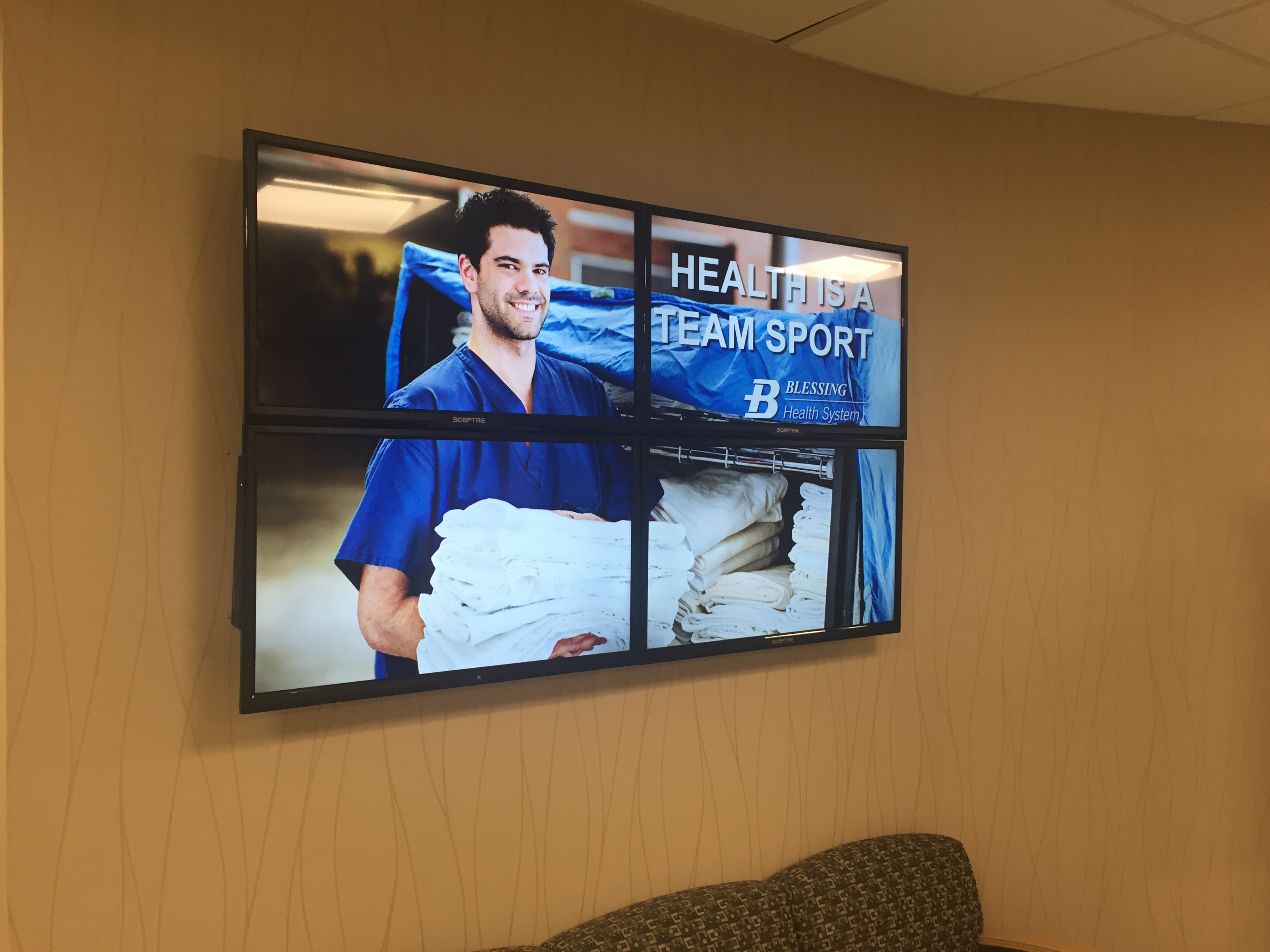The TV Sign | Video Wall with The TV Sign Digital Signage | Digital